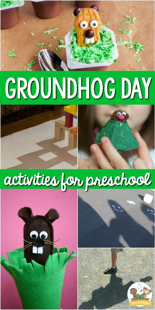 Groundhog Day Activities For Preschool Pre K Pages