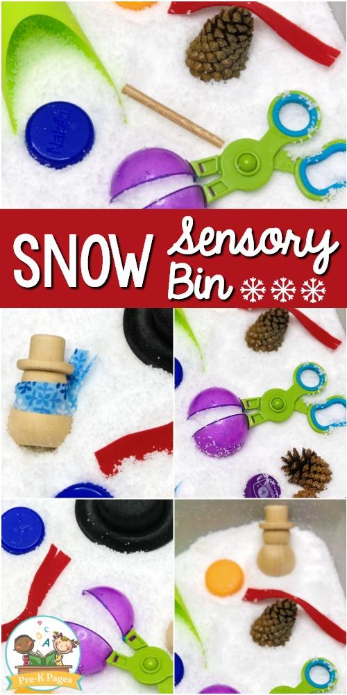 Instant Snow Sensory Bin