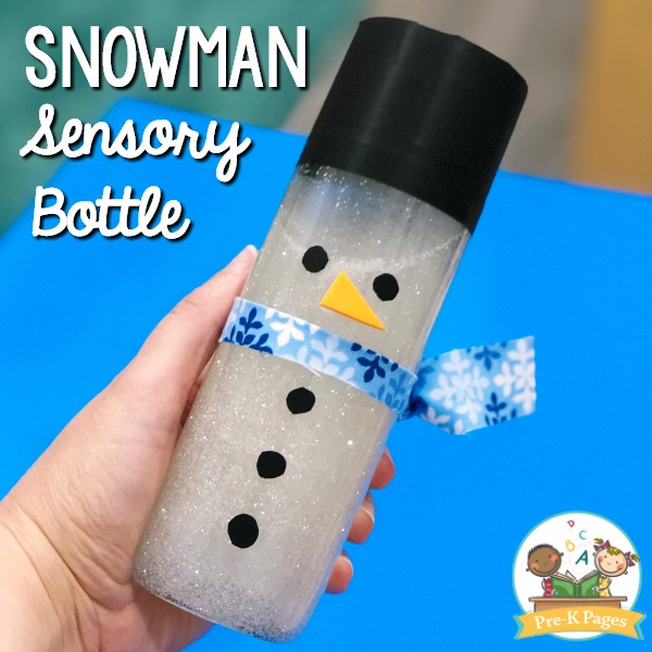 Melting Snowman Sensory Bottle Recipe
