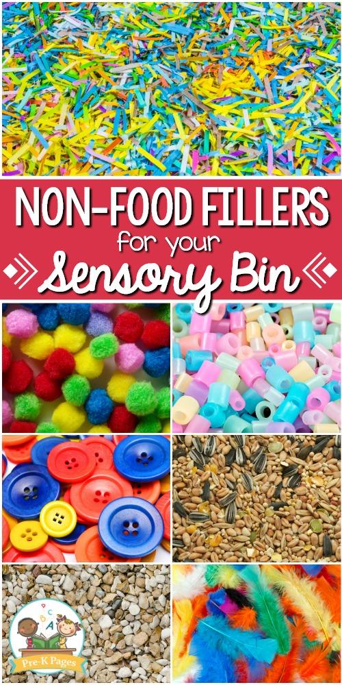 Non Food Sensory Bin Fillers
