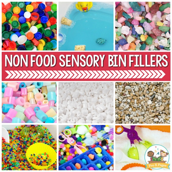 Non Food Sensory Bin Fillers for Preschool