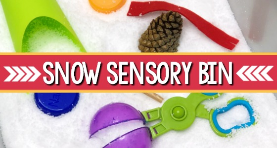 Snow Sensory Bin for Preschool