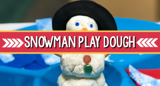 Snowman Playdough Activity