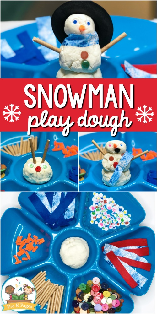 Snowman Playdough