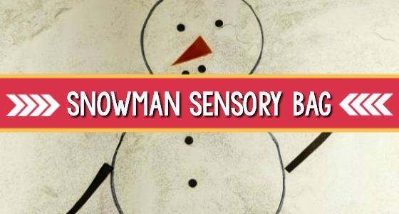 Snowman Sensory Bag