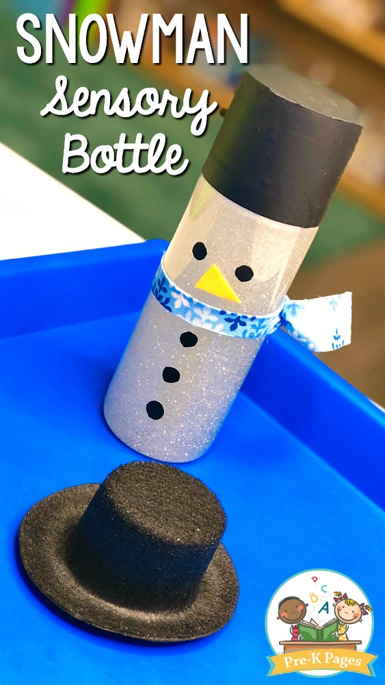 Snowman Sensory Bottle for Winter Activities