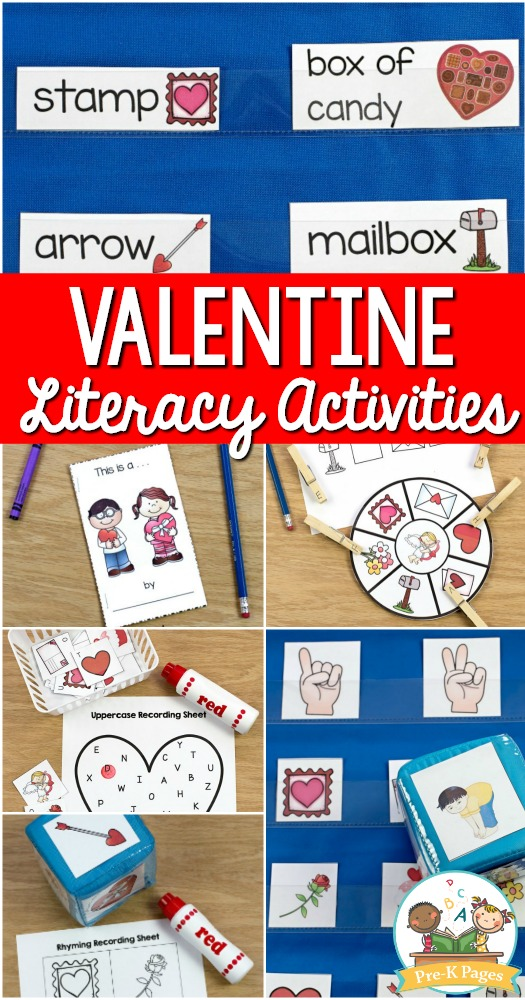 Valentine Literacy Activities for Preschool
