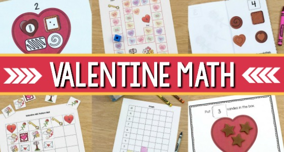 Valentine Math Activities for Preschool