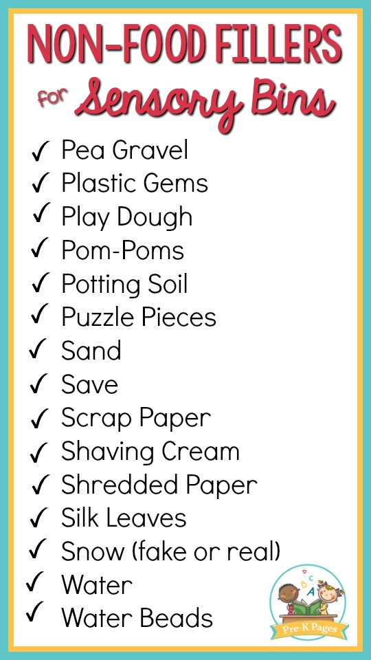 list of non food sensory bin fillers