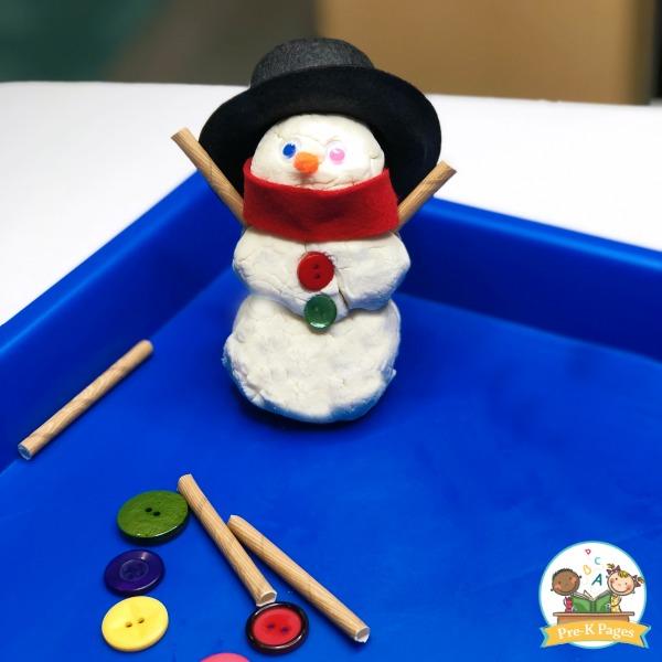 White Playdough for Winter Theme