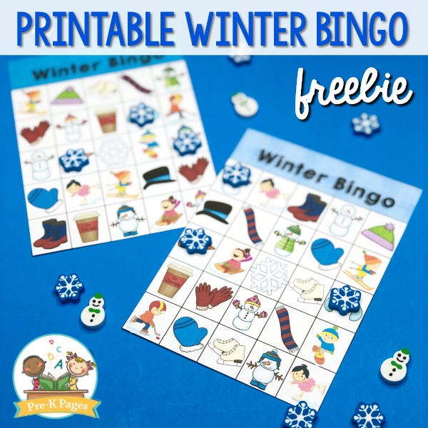Winter Theme Bingo printable