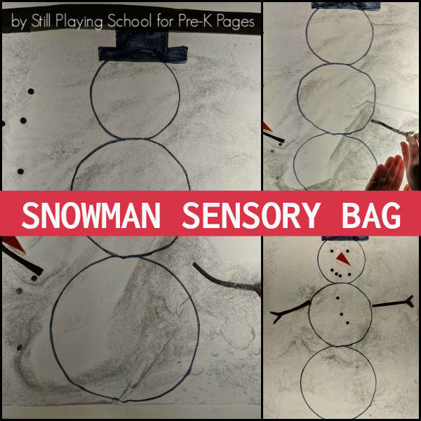 snowman sensory winter pre-k