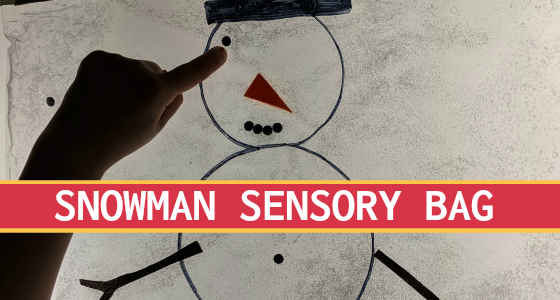 Snowman Sensory Squish Bag