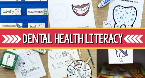 Dental Health Literacy February Preschool Theme