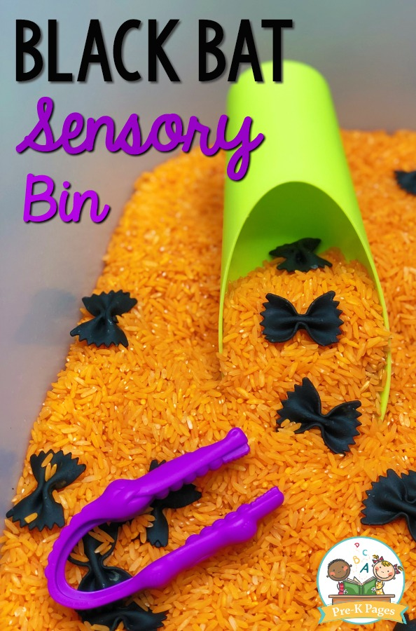 Halloween Black Bat Sensory Bin