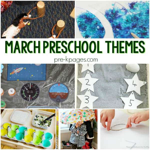 curriculum themes for march pre-k