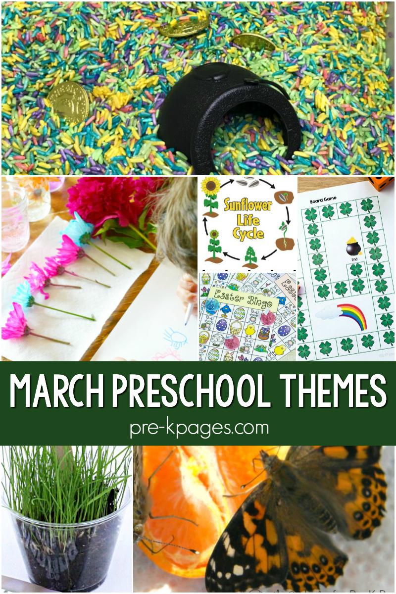 march preschool themes pre-k