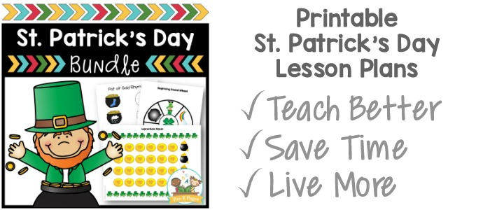 St Patricks Day Activity Bundle for Preschool