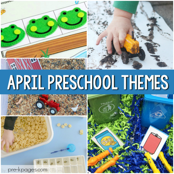 April preschool themes pre-k