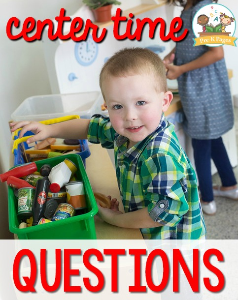 Center Time Questions in Preschool and PreK