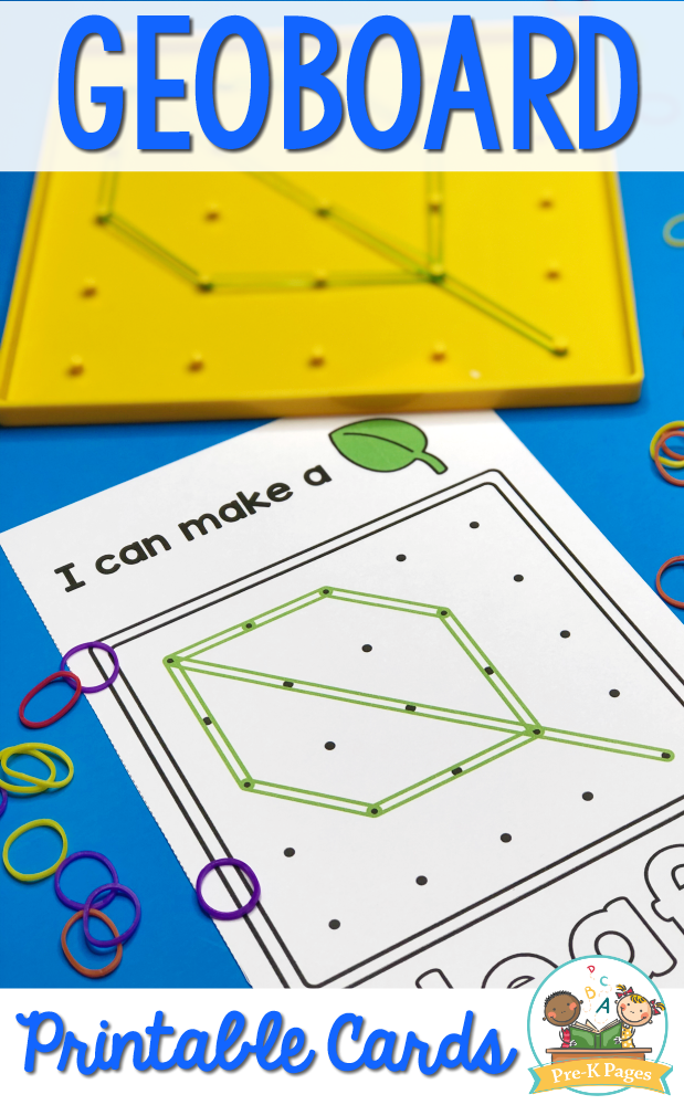 Geoboard Shape Cards for Preschool
