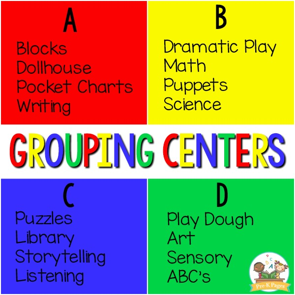 Grouping Centers in Preschool