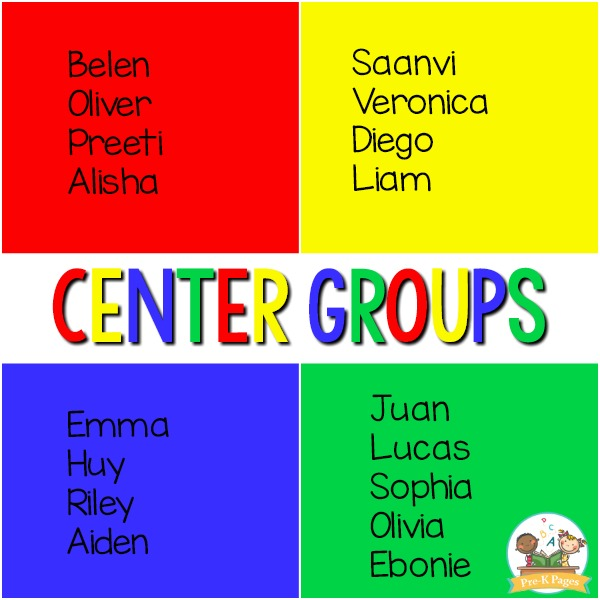 Grouping Students for Centers
