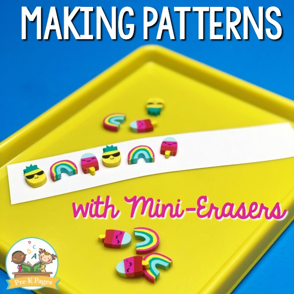 How to Teach Patterns in Preschool with Stickers