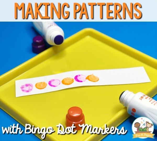 How to Teach Patterns in Preschool with Bingo Dot Markers