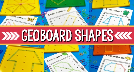 Learning Shapes with Geoboards
