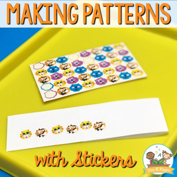 Making Patterns with Stickers in Preschool