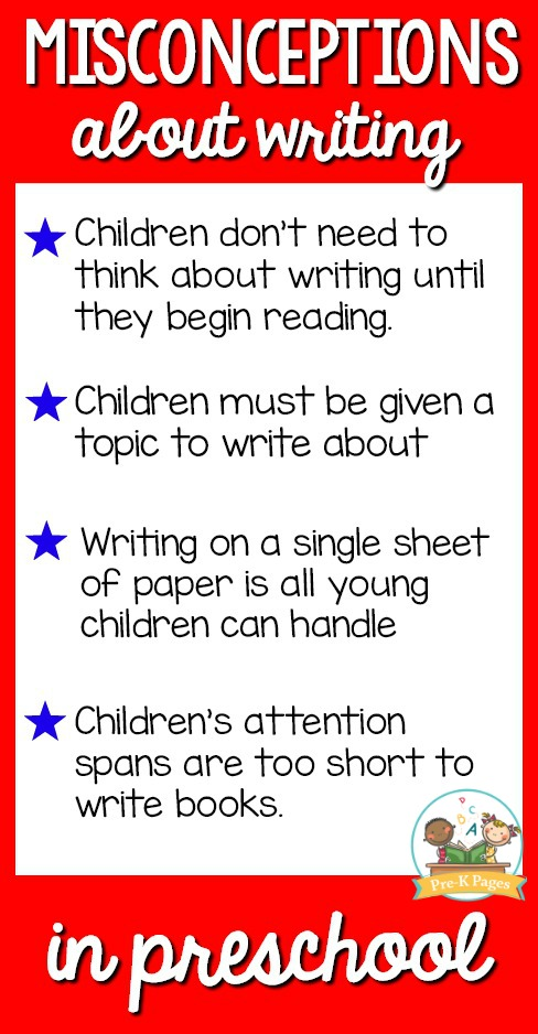 Misconceptions about writing in preschool