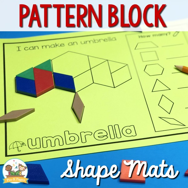 Pattern Block Shape Mats for Preschool