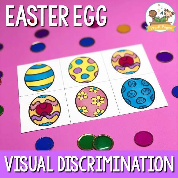 Preschool Easter Egg Matching Printable