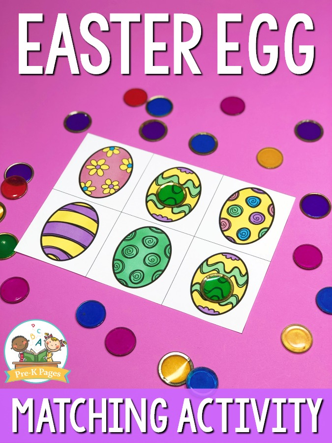 Preschool Easter Matching Activity