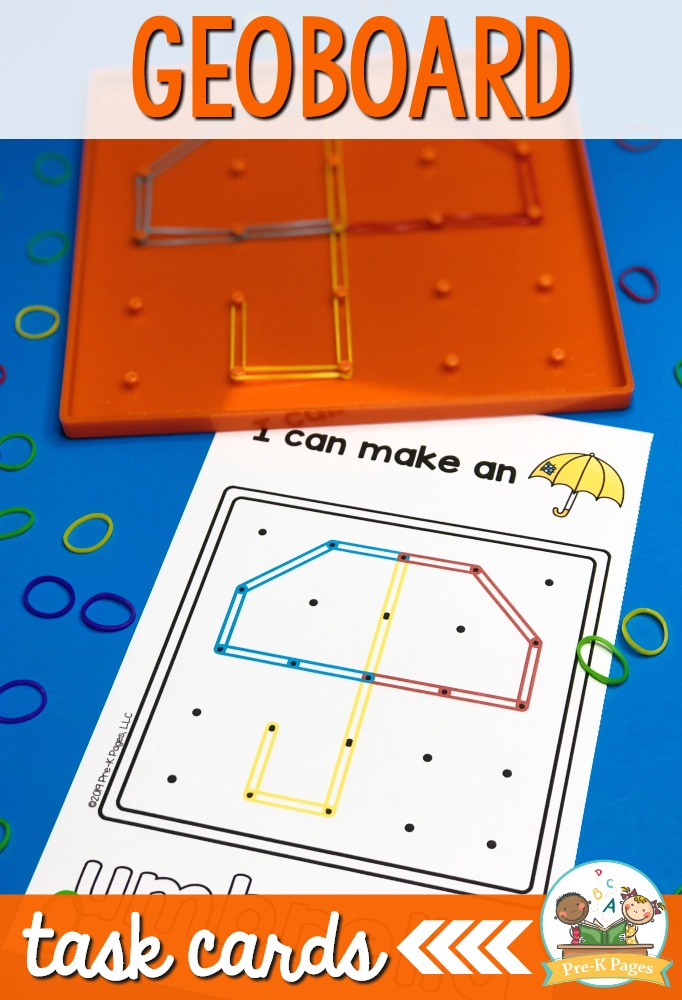 Preschool Geoboard Shape Cards