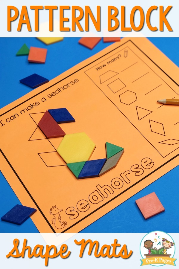 Preschool Pattern Block Shape Mats