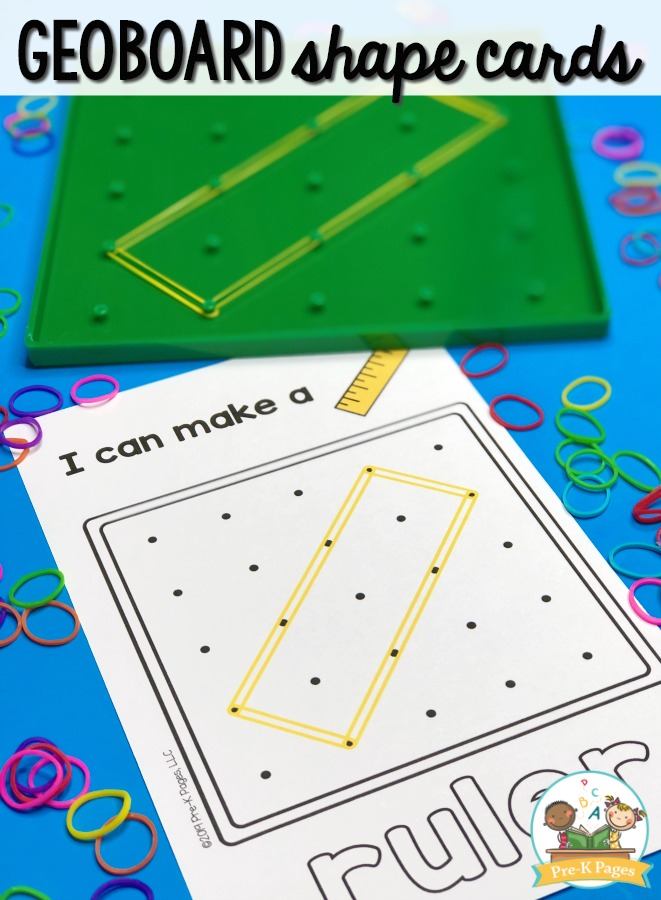photo regarding Printable Task Cards identify Geoboard Concept Activity Playing cards Deal - Pre-K Internet pages