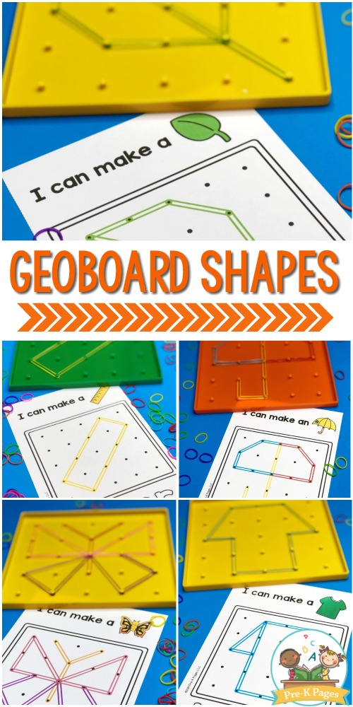 Shape Cards for Geoboards