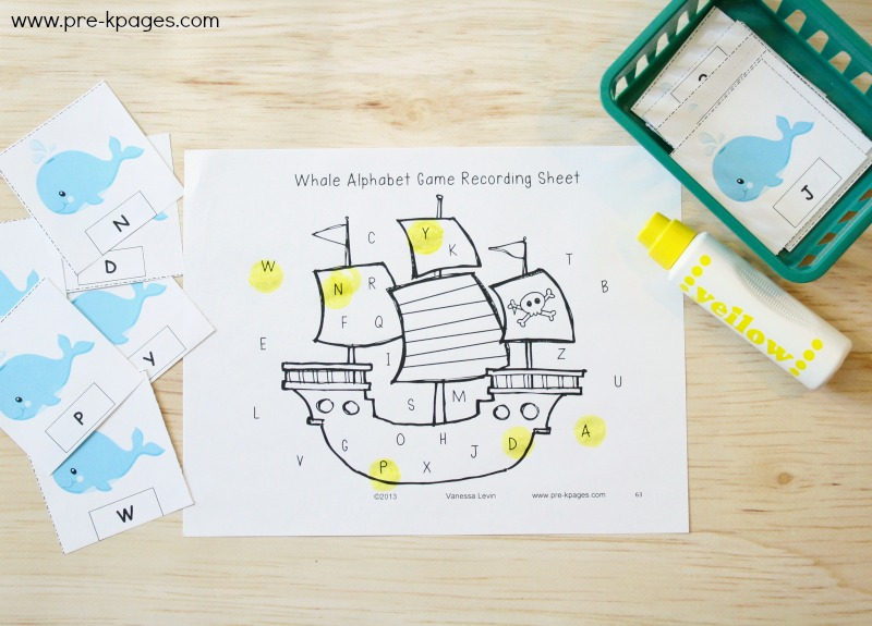 Ocean Alphabet Game for Preschool
