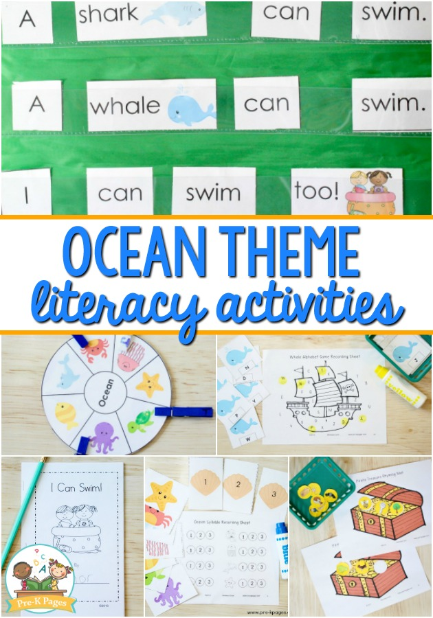 Preschool Ocean Theme Literacy Activities - Pre-K Pages