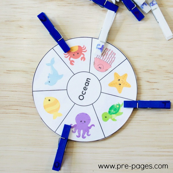 Ocean Theme Beginning Sounds Activity