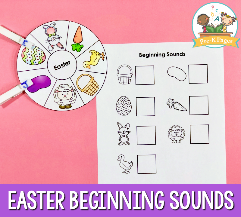 Preschool Easter Beginning Sounds Activity