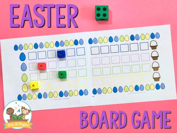 Preschool Easter Board Game