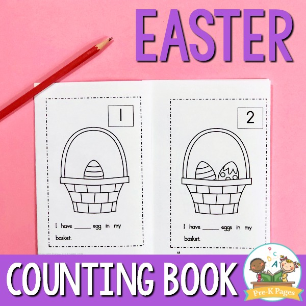 Preschool Easter Counting Book