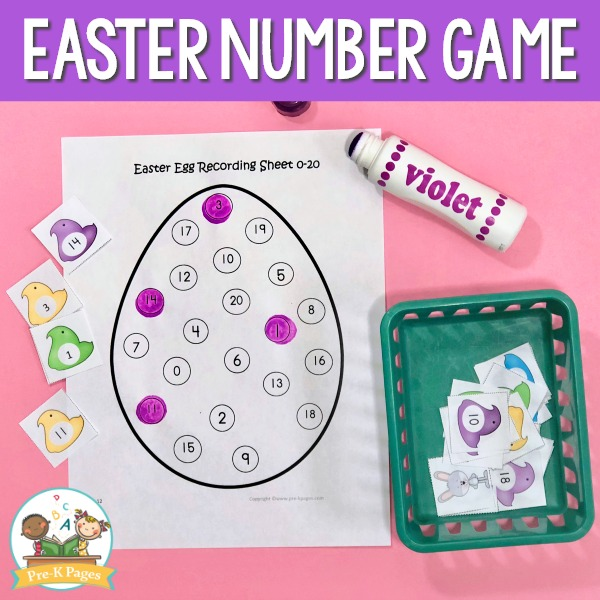 Preschool Easter Number Game