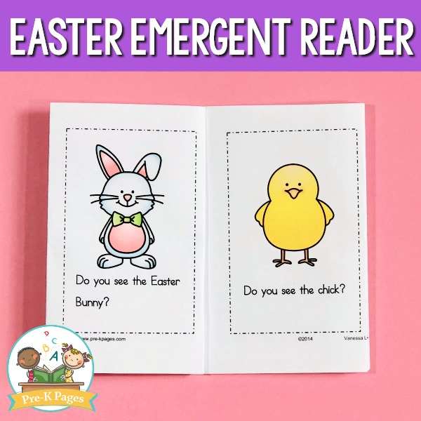 Preschool Easter Printable Emergent Reader