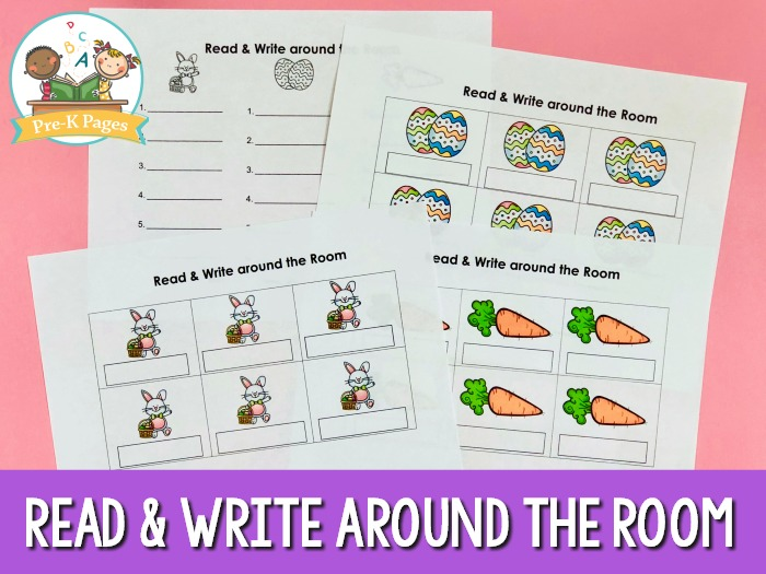 Preschool Easter Read and Write Around Room