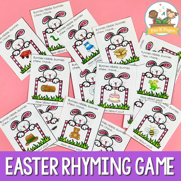 Preschool Easter Rhyming Game