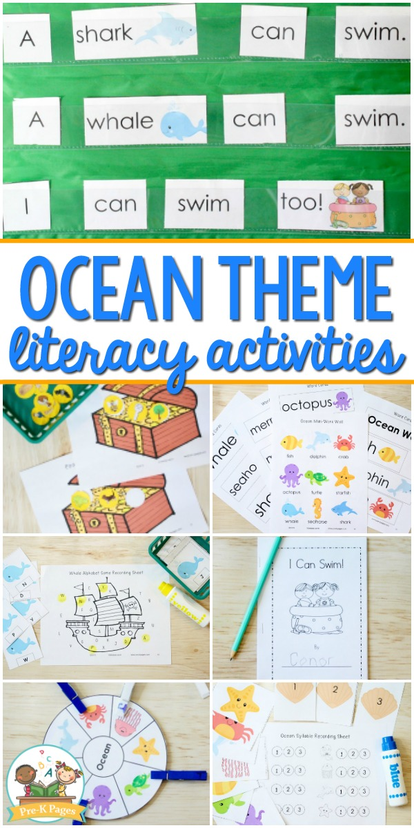 Preschool Ocean Theme Literacy Activities